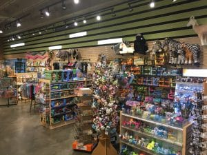 inside gift shop lots of stuffed animals